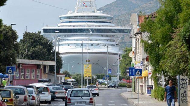 Navio em Dubrovnik