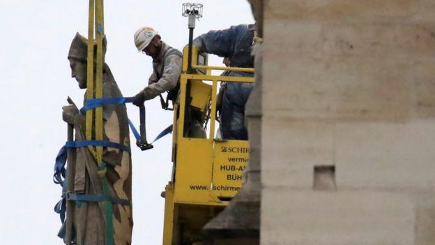 Trabajos en la catedral