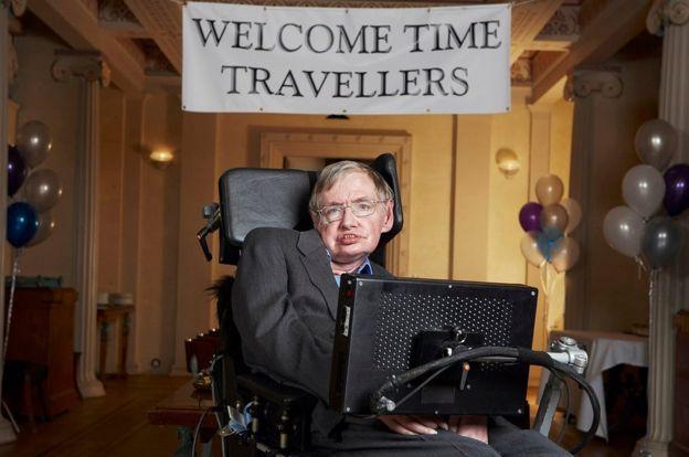 Prof Stephen Hawking na festa