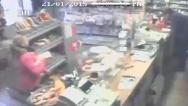 Samantha Henderson captured on CCTV