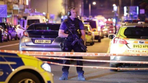 Policía en Finsbury Park