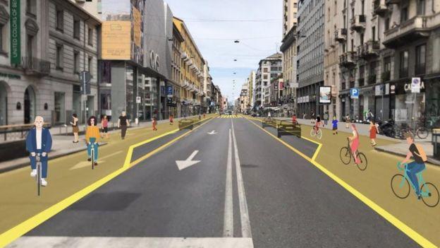 проект реформирования улиц в Милане