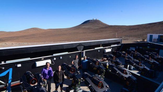 Astrónomos en Cerro Paranal