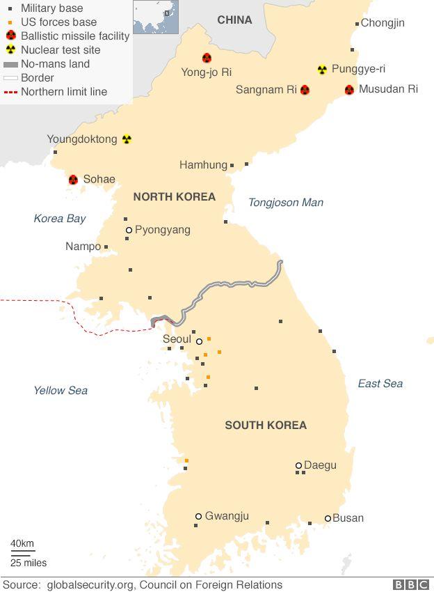North Korea Missiles Facilities (AUG 2017)