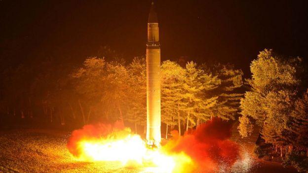 Lançamento de mísil da Coreia do Norte
