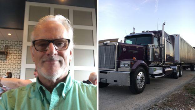 Monte Wiederhold con su camión