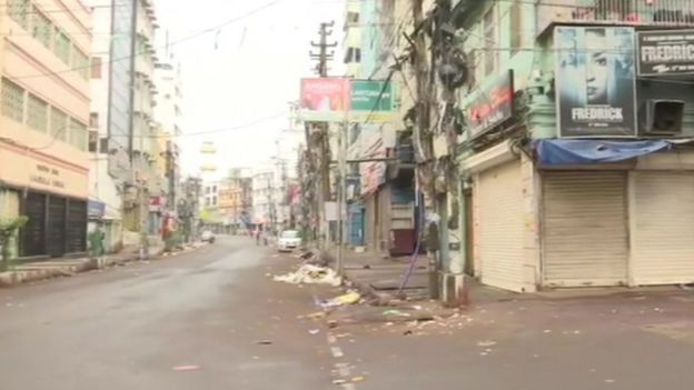 மக்கள் ஊரடங்கு தொடங்கிய நிலையில் அசாம் மாநிலத் தலைநகர் குவஹாத்தி நகரம்.