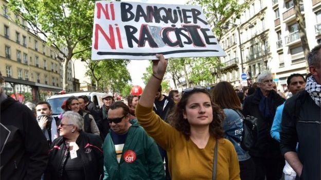 روز جهانی کارگر در پاریس با شعار