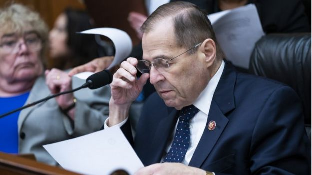 Democratic Representative from New York and Chairman of the House Judiciary Committee Jerry Nadler prepares to oversee a committee markup to hold Attorney General William Barr in contempt of Congress for refusal to comply with a subpoena in the Rayburn House Office Building in Washington, DC, USA