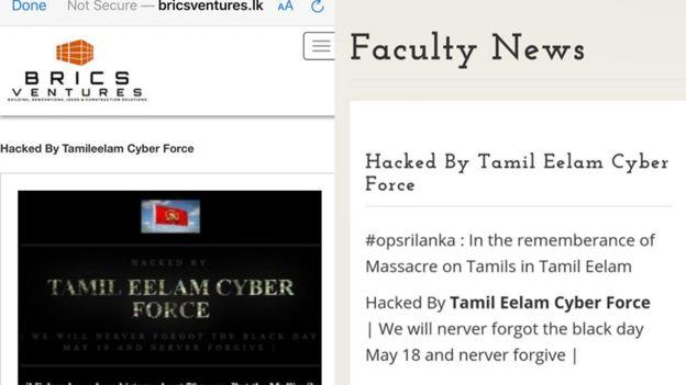 இலங்கை: தமிழீழம் சைபர் படையணி சைபர் தாக்குதல்