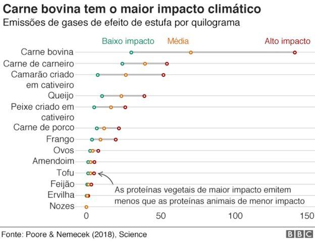 Carne bovina tem maior impacto climático