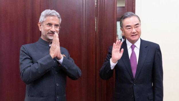中国外长王毅与印度外长苏杰生(Subrahmanyam Jaishankar)9月10日在俄罗斯莫斯科举行会谈时达成共识
