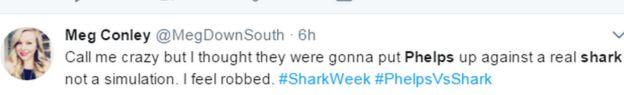 Meg Conley'nin yaptığı tweet: