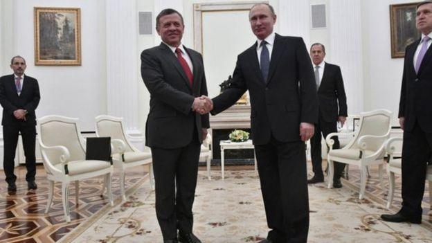 Rey Abdalá e Putin