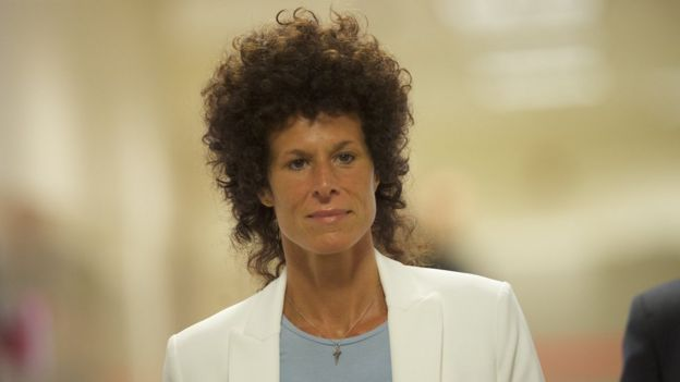 Andrea Constand arriving at court in 2017