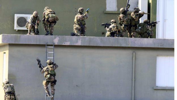 Саудовский спецназ на учениях