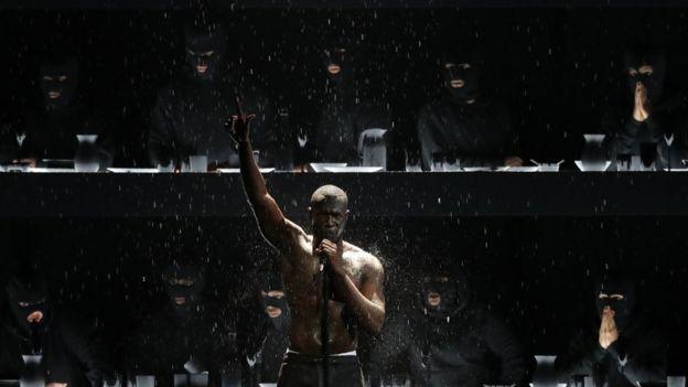 Stormzy at the 2018 Brit Awards