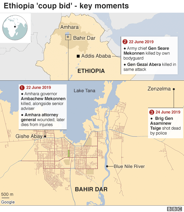 map and timeline of the events