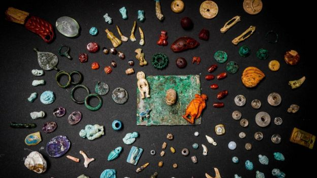 Stones, bones and other artefacts on display in Pompeii (12 August)