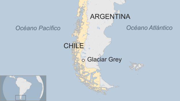 Mapa del sur de Chile