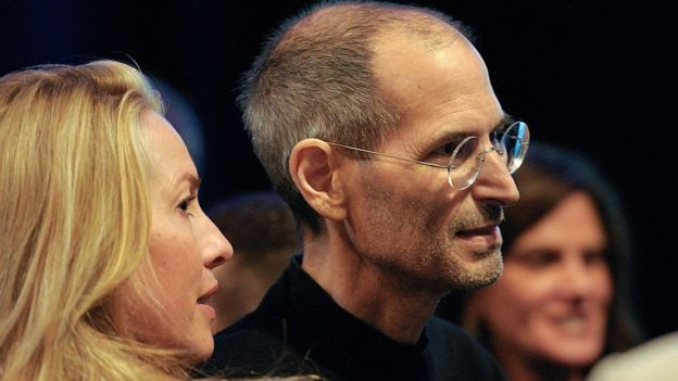 Laurene Powell Jobs y Steve Jobs