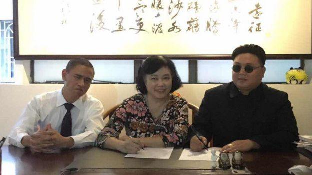 Xi Jiguo, manager Billie Chan and Zhang Daiming
