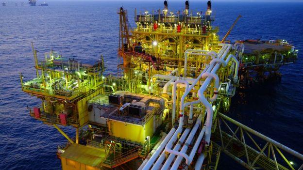 Extracción de petróleo en México.