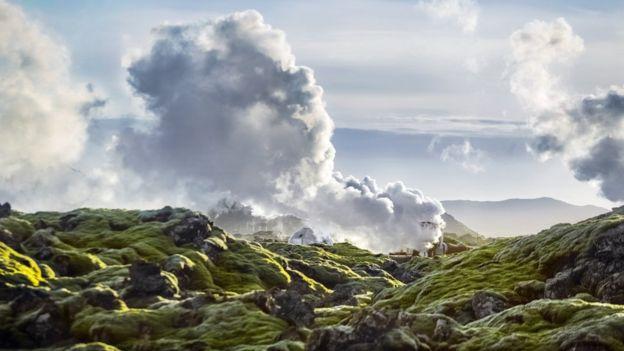 Geração de energia geotérmica em Hellisheidi