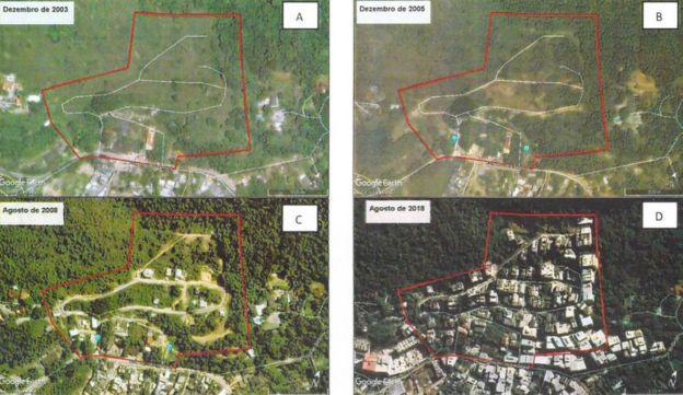 Série de imagens mostra evolução da ocupação na região da Muzema entre 2003 e 2018