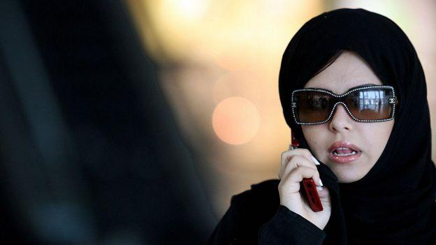 Suudi Arabistan'da bir kadın