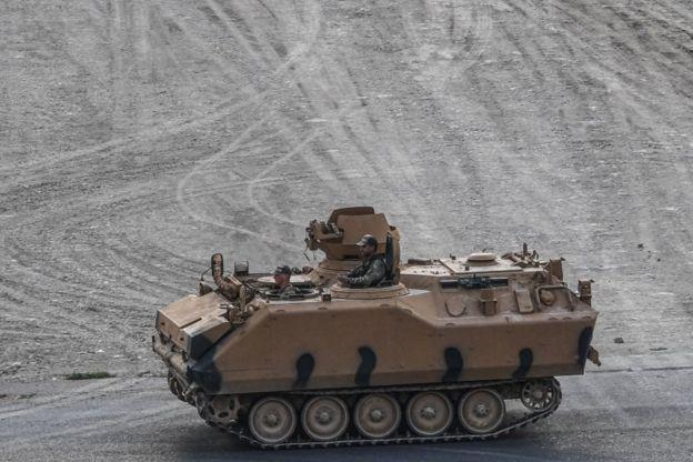 Barış Pınarı Harekâtı'nda kullanılan bir tank