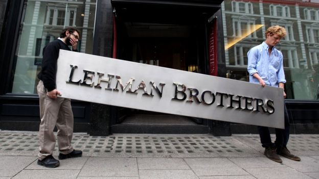 Auction staff with a Lehman Brothers