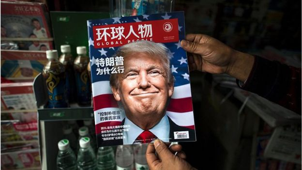 Trump on a magazine cover in China
