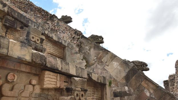 Detalle del templo de Quetzalcóatl