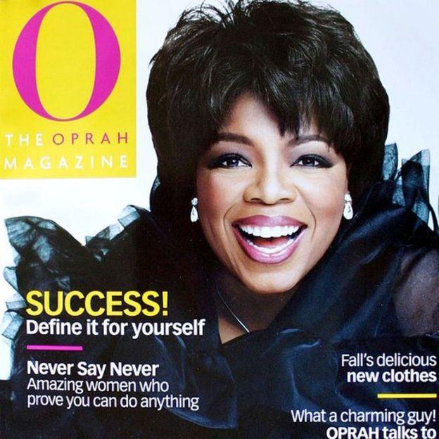 Portada de la revista de Oprah Winfrey.