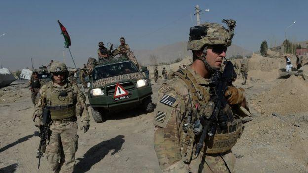 Soldados estadounidenses en la región de Wardak.