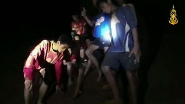 Los niños hallados en la cueva de Tailandia