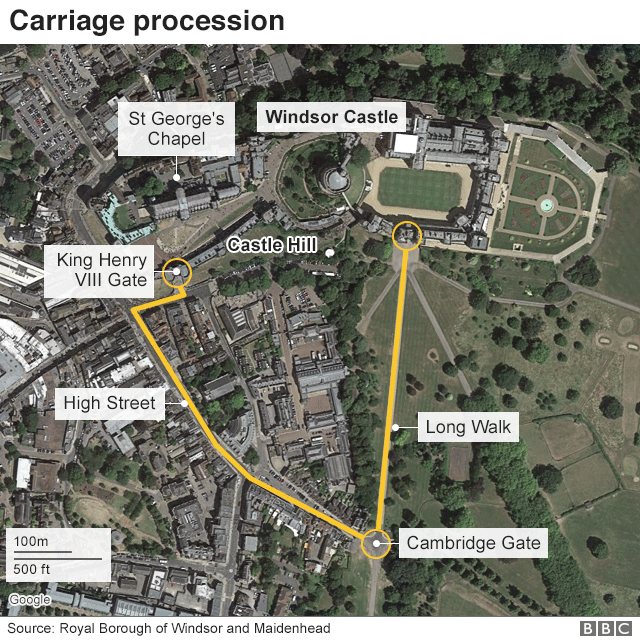Map of procession route