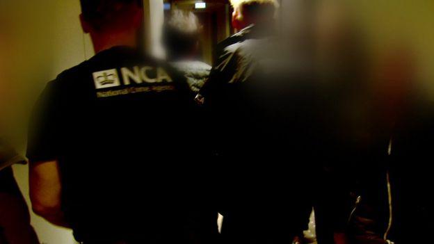 Arrested man led away