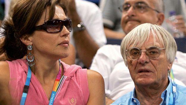 Bernie y Slavica Ecclestone