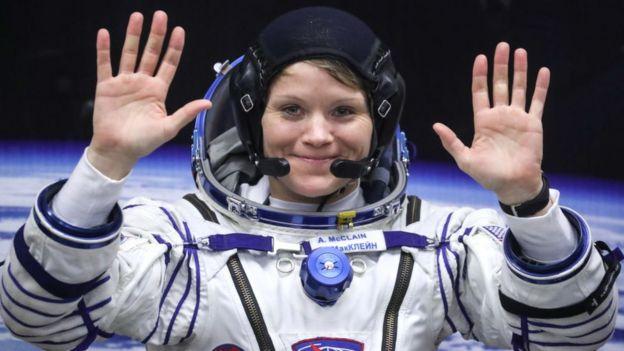 Astronauta Anne McClain, el 3 de diciembre de 2018.