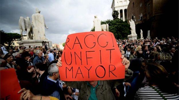 Manifestación en Roma