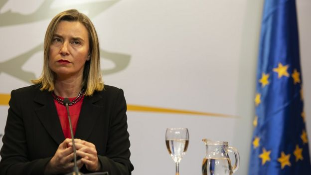 The EU's foreign policy chief Federica Mogherini