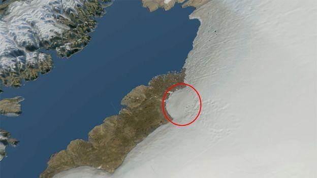Grönland'daki krater