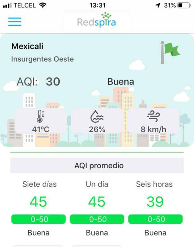 Pantalla de un celular con un mapa de Redspira