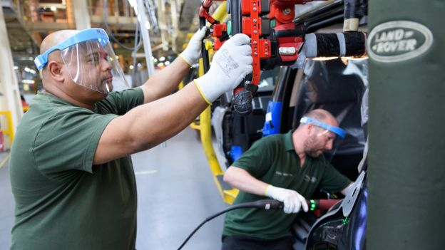 Jaguar Land Rover workers