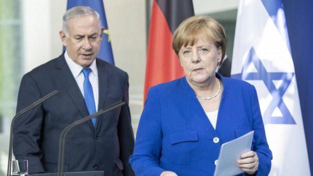 آقای نتانیاهو روز گذشته در آلمان با آنگلا مرکل دیدار کرد