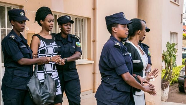 Diane Rwigara na Adeline Mukangemanyi bamaze umwaka abatawe muri yombi