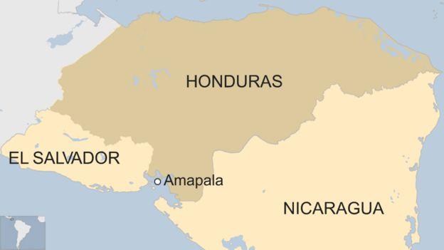 Mapa de Amapala