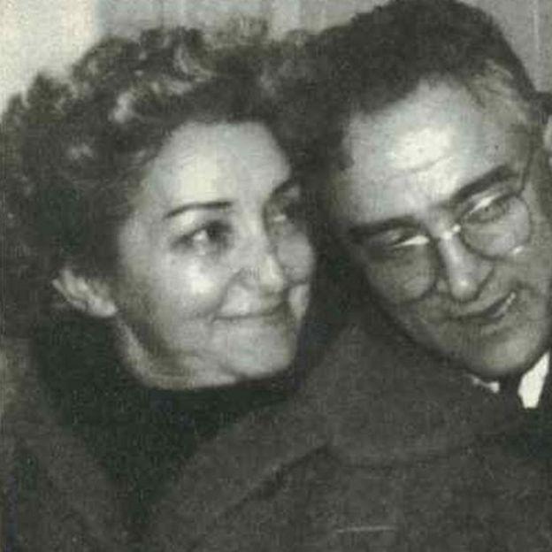 África de las Heras se casó en segundas nupcias con el espía italiano Valentín Marchetti.